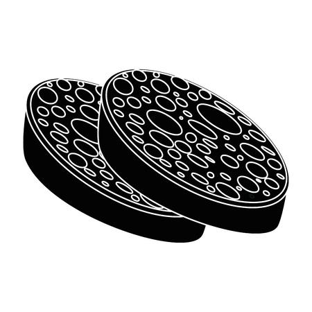 salami icon over white background vector illustration