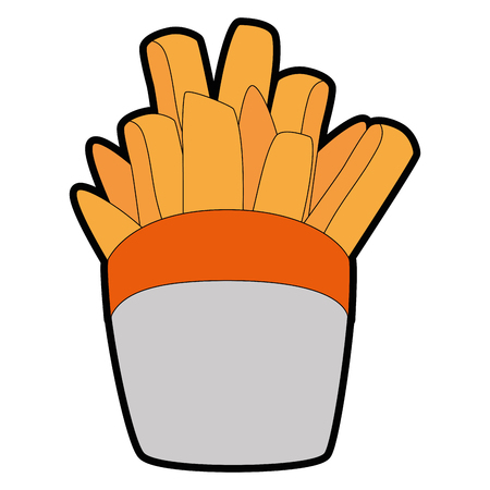 french fries icon over white background vector illustration