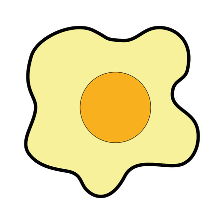 fried egg icon over white background vector illustration
