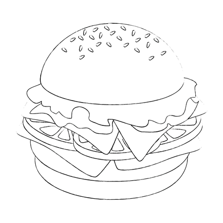 hamburger icon over white background vector illustration Иллюстрация