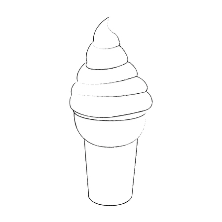 ice cream icon over white background vector illustration