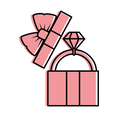Cute gift box icon vector illustration graphic design