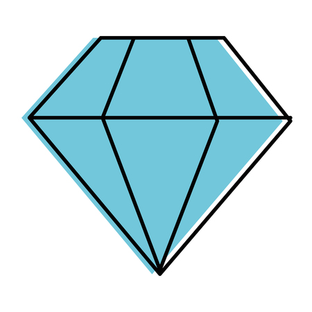 Diamond luxury diamond icon vector illustration graphic design Ilustração