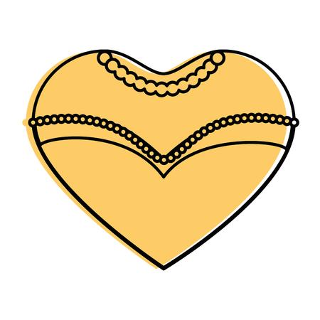 Hochzeit dekorative Symbol Symbol Vektor-Illustration Grafik-Design Standard-Bild - 84666079