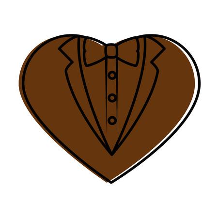 Hochzeit dekorative Symbol Symbol Vektor-Illustration Grafik-Design Standard-Bild - 84666082
