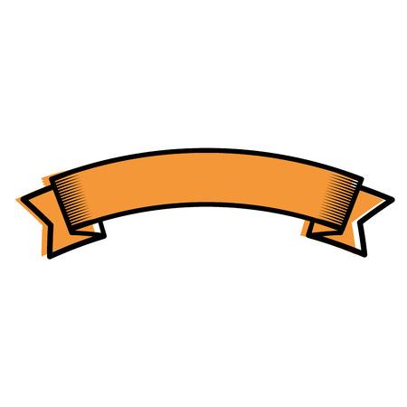 Decorative ribbon banner icon vector illustration graphic design