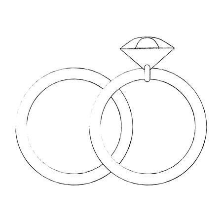 Boda anillo aislado icono ilustración vectorial diseño gráfico Ilustración de vector