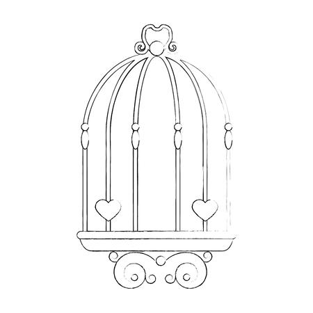 Matrimonio decorativo icona simbolo illustrazione vettoriale illustrazione grafica Archivio Fotografico - 84666106