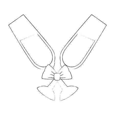 Diseño gráfico lindo del ejemplo del vector del icono de la taza de Champán Foto de archivo - 84649298