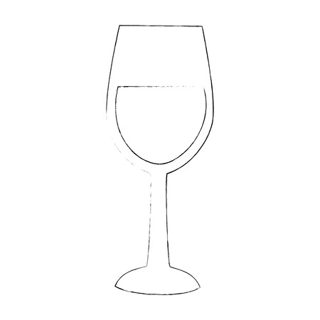 Cute Champagne cup icon vector illustration graphic design Ilustrace