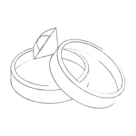 Wedding ring isolated icon vector illustration graphic design