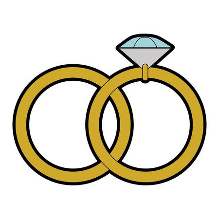 結婚指輪のアイコン ベクトル イラスト グラフィック デザインを分離しました。  イラスト・ベクター素材