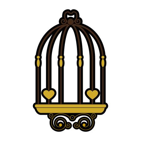 Wedding decorative cage symbol icon vector illustration graphic design
