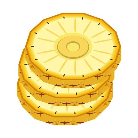 Sweet and delicious pineapple icon vector illustration graphic design Banco de Imagens - 84649509