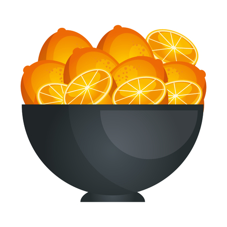 Fruits on dish icon vector illustration graphic design
