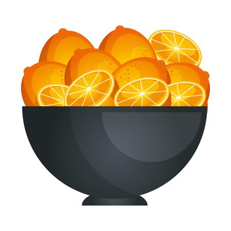 Vruchten op schotel pictogram vector illustratie grafisch ontwerp