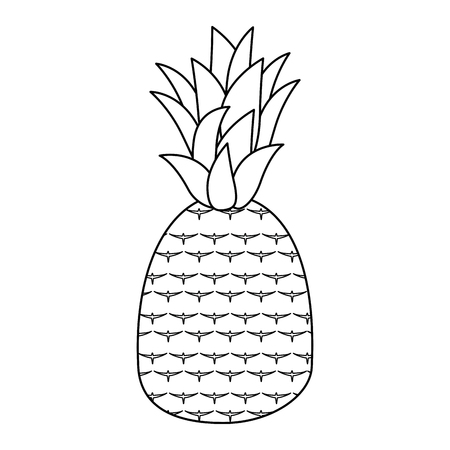 Sweet and delicious pineapple icon vector illustration graphic design Фото со стока - 84649581