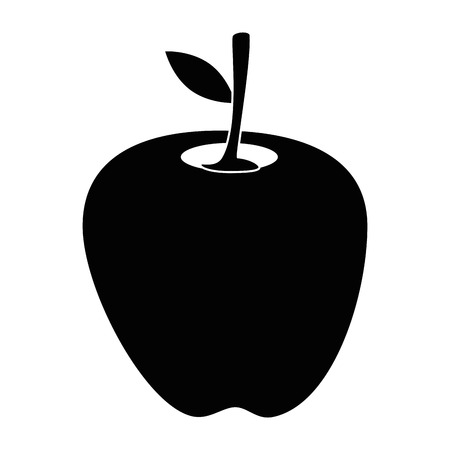 apple delicious fruit icon vector illustration graphic design