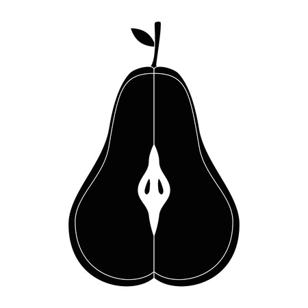 Pear delicious fruit icon vector illustration graphic design Ilustrace