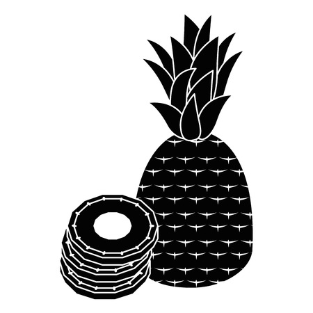 Sweet and delicious pineapple icon vector illustration graphic design