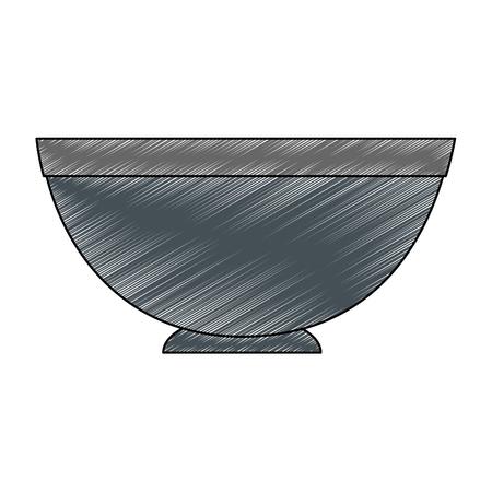 空の皿シンボル アイコン ベクトル イラスト グラフィック デザイン