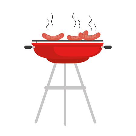 Barbeque grill sausages icon vector illustration graphic design Illustration