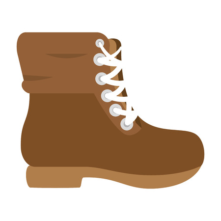 Camping boot footwear icon vector illustration graphic design