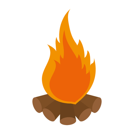Camping bonfire isolated icon vector illustration graphic design