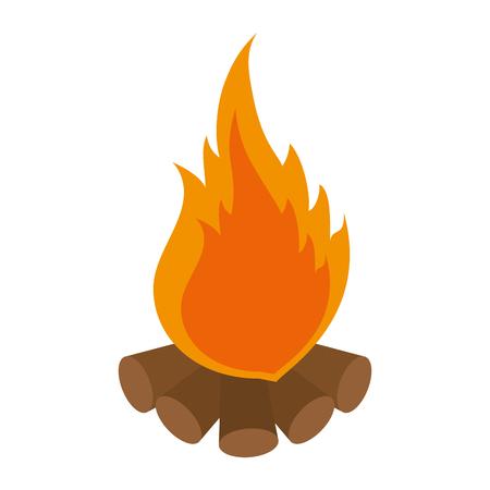 Camping bonfire geïsoleerd pictogram vector illustratie grafisch ontwerp
