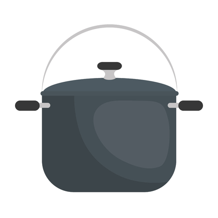 Steel cooking pot icon vector illustration graphic design Illustration