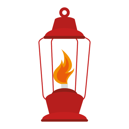 Camping lamp flamme icon vector illustration graphic design