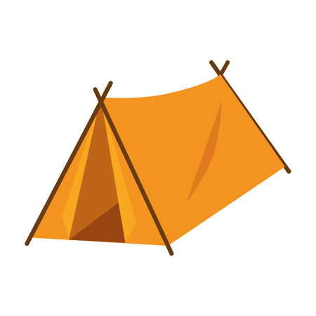 Camping tent isolated icon vector illustration graphic design Иллюстрация