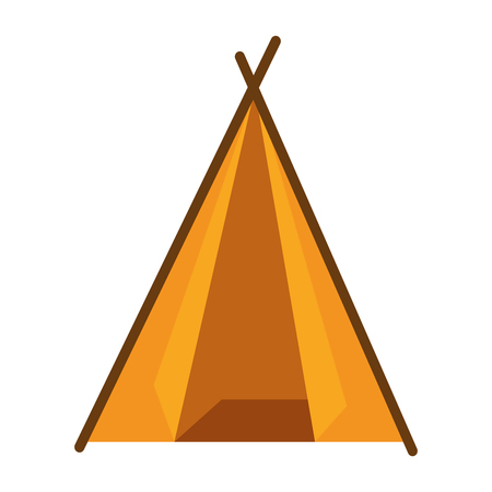 Camping tent isolated icon vector illustration graphic design Illustration