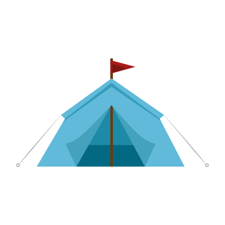 Camping tent isolated icon vector illustration graphic design Stock Vector - 84667487