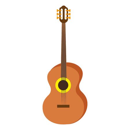 Acoustic guitar music instrument icon vector illustration graphic design Imagens - 84667490