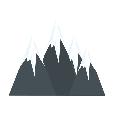 Peak mountains landscape icon vector illustration graphic design