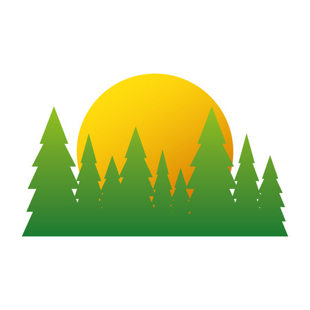 Tree pines isolated icon vector illustration graphic design