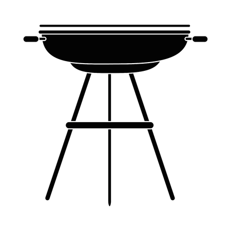 Bbq grill sausages icon vector illustration graphic design