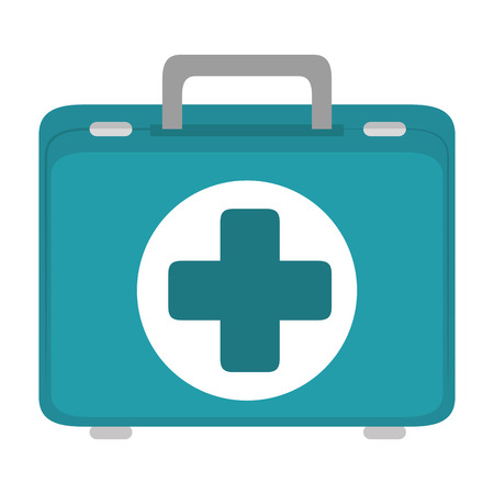 First aid suitcase icon vector illustration graphic design 向量圖像