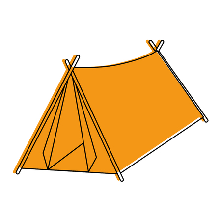 Camping tent isolated icon vector illustration graphic design Stock Vector - 84710873