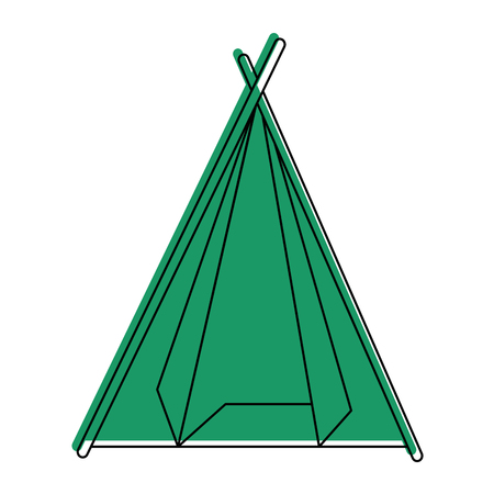 Camping tent isolated icon vector illustration graphic design Stock Vector - 84710874