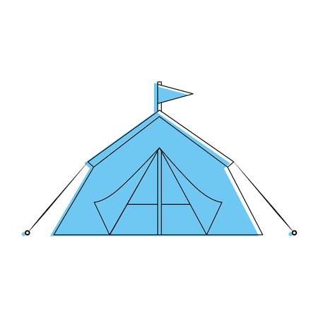 Camping tent isolated icon vector illustration graphic design Stock Vector - 84710875