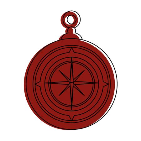 Navigation compass tool icon vector illustration graphic design Banco de Imagens - 84710882