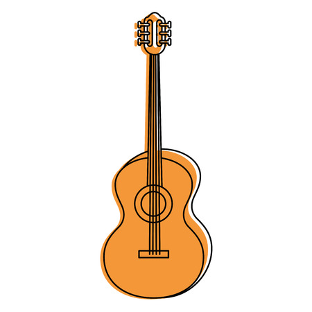 Acoustic guitar music instrument icon vector illustration graphic design Imagens - 84710887