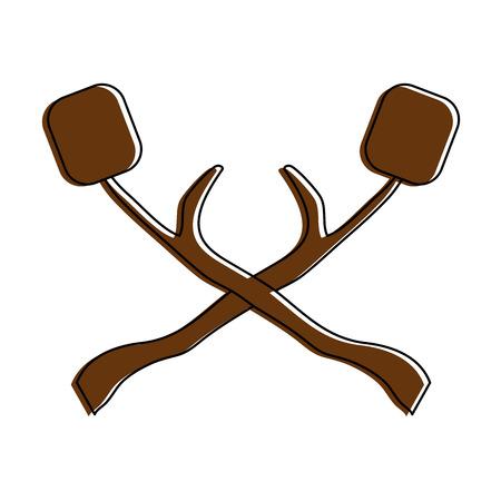Une guimauves snack sucré icône vector illustration design graphique Banque d'images - 84710891