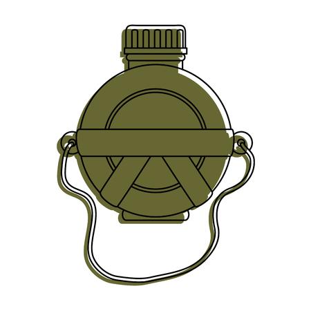 食堂の水のボトルのアイコン ベクトル イラスト デザイン。