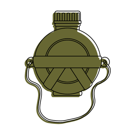 A canteen water bottle icon vector illustration graphic design. Stok Fotoğraf - 84710890