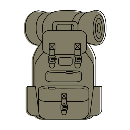 Camping backpack icon vector illustration graphic design Illustration