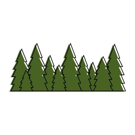 소나무는 고립 된 아이콘 벡터 일러스트 그래픽 디자인을 소나무 일러스트
