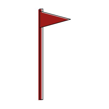 Flag pennant isolated icon vector illustration graphic design Çizim